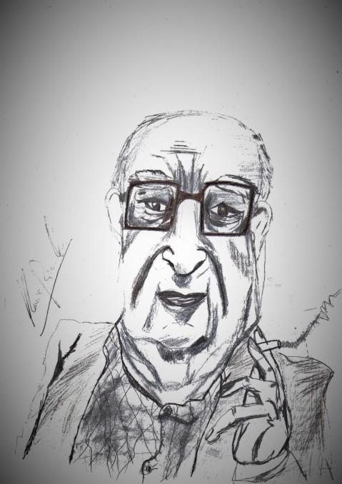 """Copertina di Andrea Camilleri, """"Padre del Commissario Montalbano"""""""